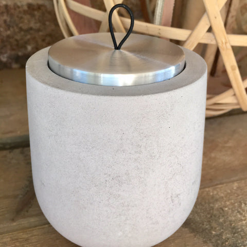 Candle with Concrete Dolman and Gift Bag - Coromandel