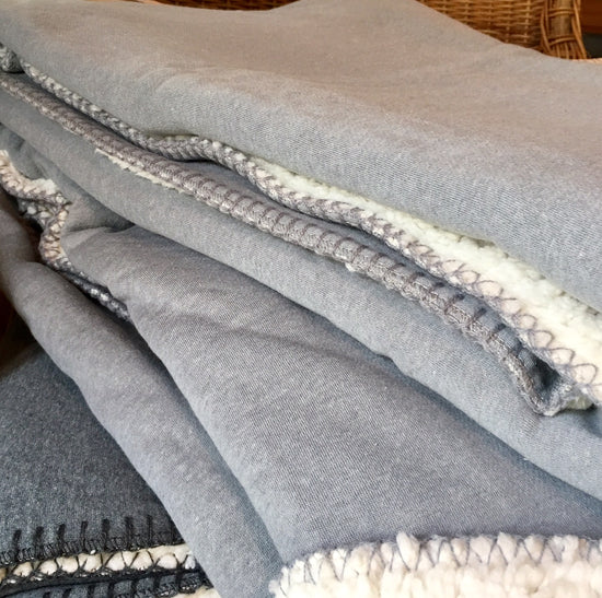 Jersey Fleece blanket - Soft Grey