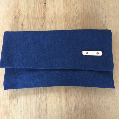 Pouch - Denim, Leather Strap
