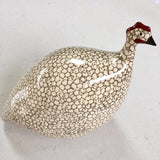 Ceramic Pintade (Guinea Fowl) - White and Grey (Large and Small)