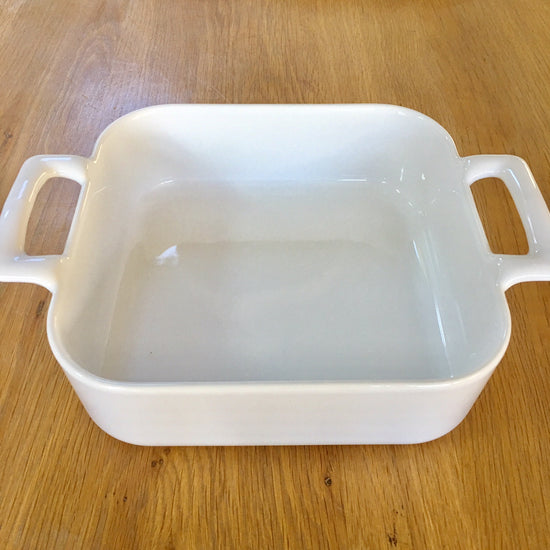 Ceramic Deep Square Baking Dish - White