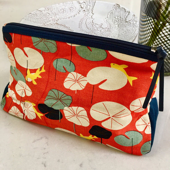 Canvas Wash Bag - Japanese Pond
