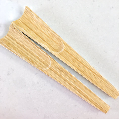 Bamboo Salad Servers - Natural