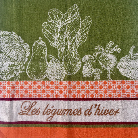 Kitchen Hand Towel - Les Legumes D'Hiver (Winter vegetable)