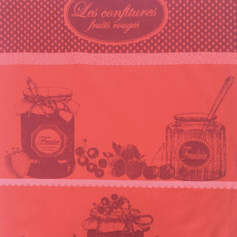 Tea Towel - Confitures Fruits Rouges (Red berry Jam)