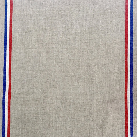Linen Tea Towel - Natural With Tricolour Stripes