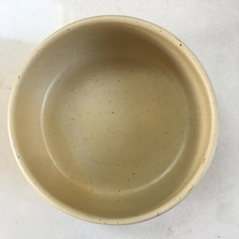 Handmade Stoneware Bowl - Vanilla, Small, Medium or Set of Two