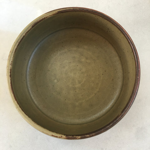Handmade Stoneware Bowl - Olive Green, Medium, Small or Set of Two