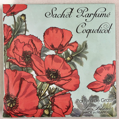 Perfumed Drawer Sachet - Coquelicot (Poppy)