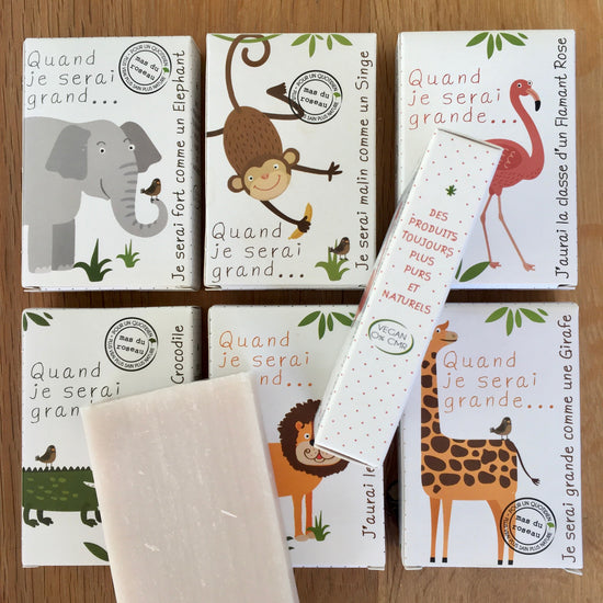 Zoo Soap, Six Animals - Handmade, Natural Fragrance