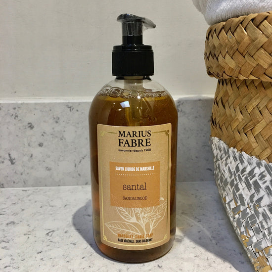 Coconut Oil Liquid Marseille Soap - Santal (Sandalwood) Fragrance