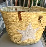 Basket - Emma Star, Large, Long Leather Handles