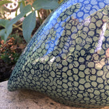 Ceramic Guinea Fowl - Forest Green and Blue, Large