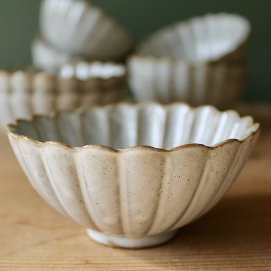 Urchin Dipping Bowl - Stone and White