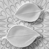 Leaf Plates - White, Medium and Small, Set