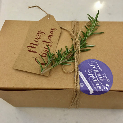 Gift Box - Coconut Oil Liquid Marseille Soap - Fig, Pomegranate and Sandalwood