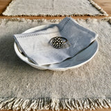 Linen Table Mat with Fringed Edge