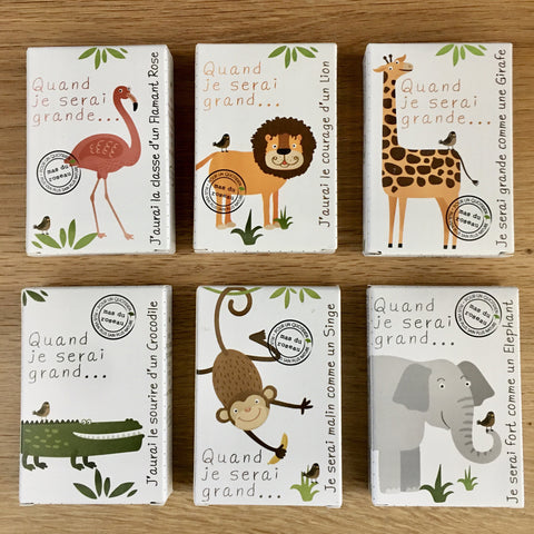 Hand made Zoo Animals Bar Soap, Natural Fragrance