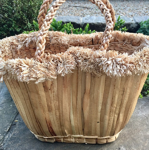 Basket - Water Hyacinth, Short Handles