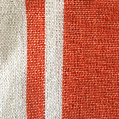Hamman Cotton Towel - White And Tangerine