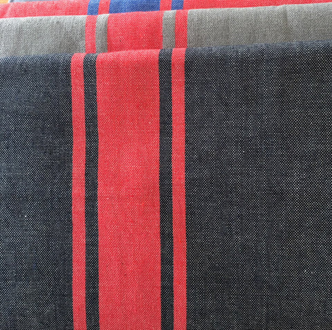 Fouta - Dark Grey and Red