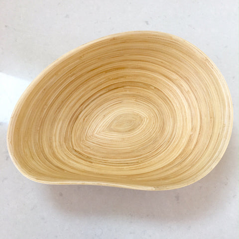 Bamboo Fruit Bowl - Mango Shape, Natural