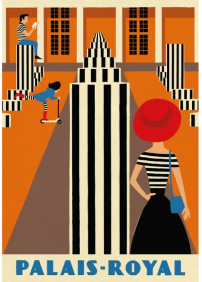 Original Retro Print - Paiais Royal, Paul Thurlby