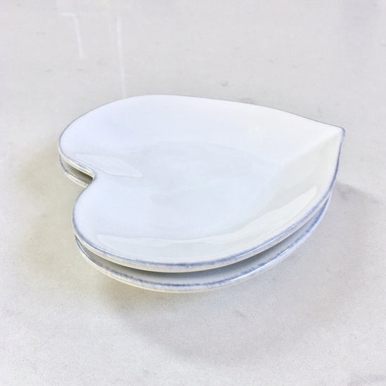 Ceramic Small Heart Plate - White