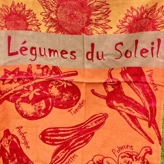 Tea Towel - Legumes D'ete (Summer Vegetables)