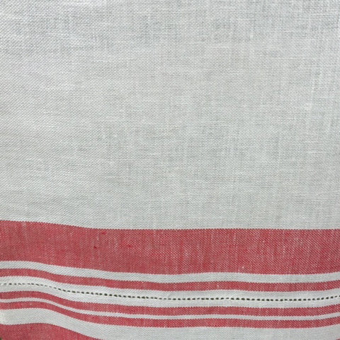 Tea Towel Glass Cloth - Red And White