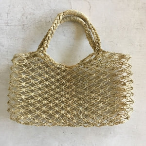 Braided Palm Leaf Bag - Natural