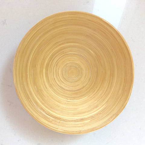Bamboo Bowl - Coupe Taupe Lacquer