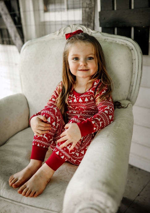 PREORDER- Rudolph Organic Children's Holiday Matching Family Pajamas