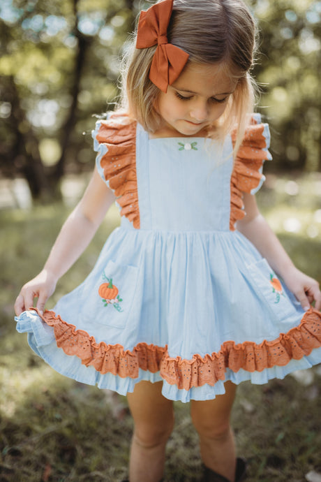 Pumpkin Pinafore Set