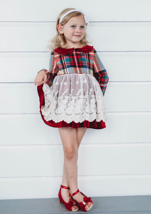 PREORDER Perfectly Plaid Emery Tunic or Dress Set