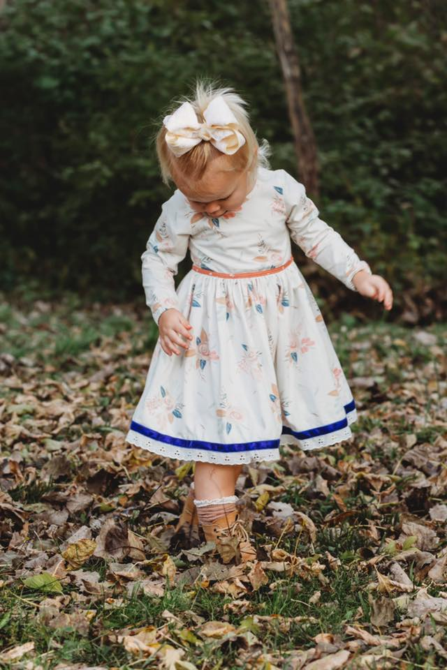 Fall Floral Dress- Cinnamon Sugar