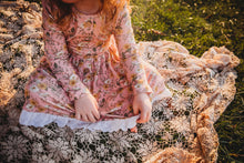 Long Sleeve Pink Wildflower Dress