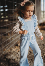 Evelyn Pants Romper and Shirt Set- Gray Skies