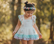 Aleiza Pinafore Set- Pastel Rainbow