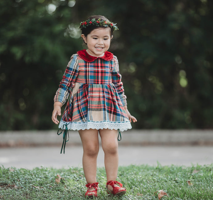 PREORDER Perfectly Plaid Skirted Romper