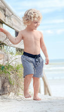 Black Gingham Boy Swim Shorts