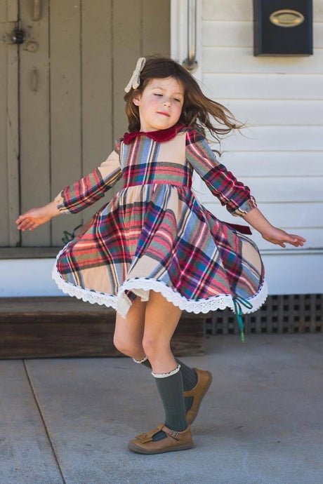 PREORDER Perfectly Plaid Dress and Bloomer set