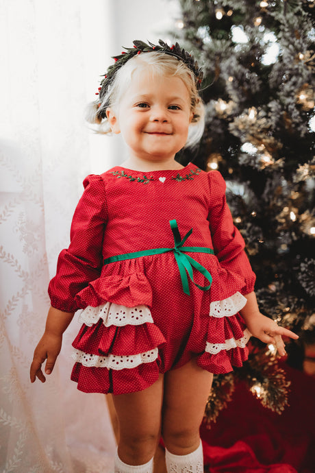 Deck the Halls Romper-LATER DELIVERY DATE