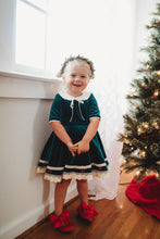 Emerald Velvet Dress and Bloomer Set