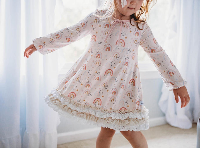 After the Rain Girl Gown and Bloomer set