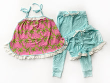 Palm Tree Loungewear- 3 Piece Set