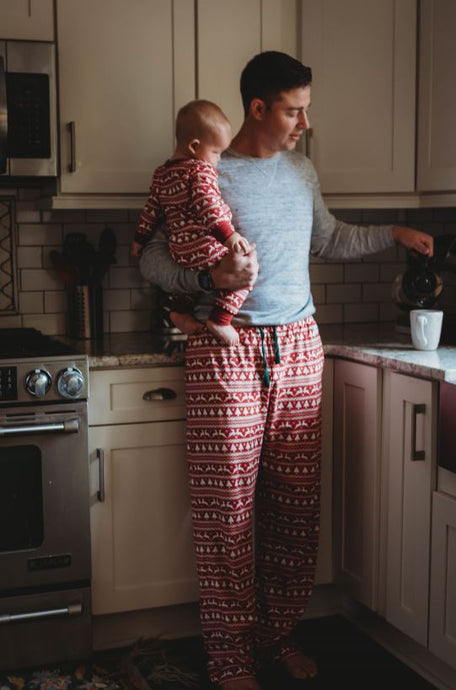 PREORDER- Rudolph Organic Men's Pants Holiday Matching Family Pajamas