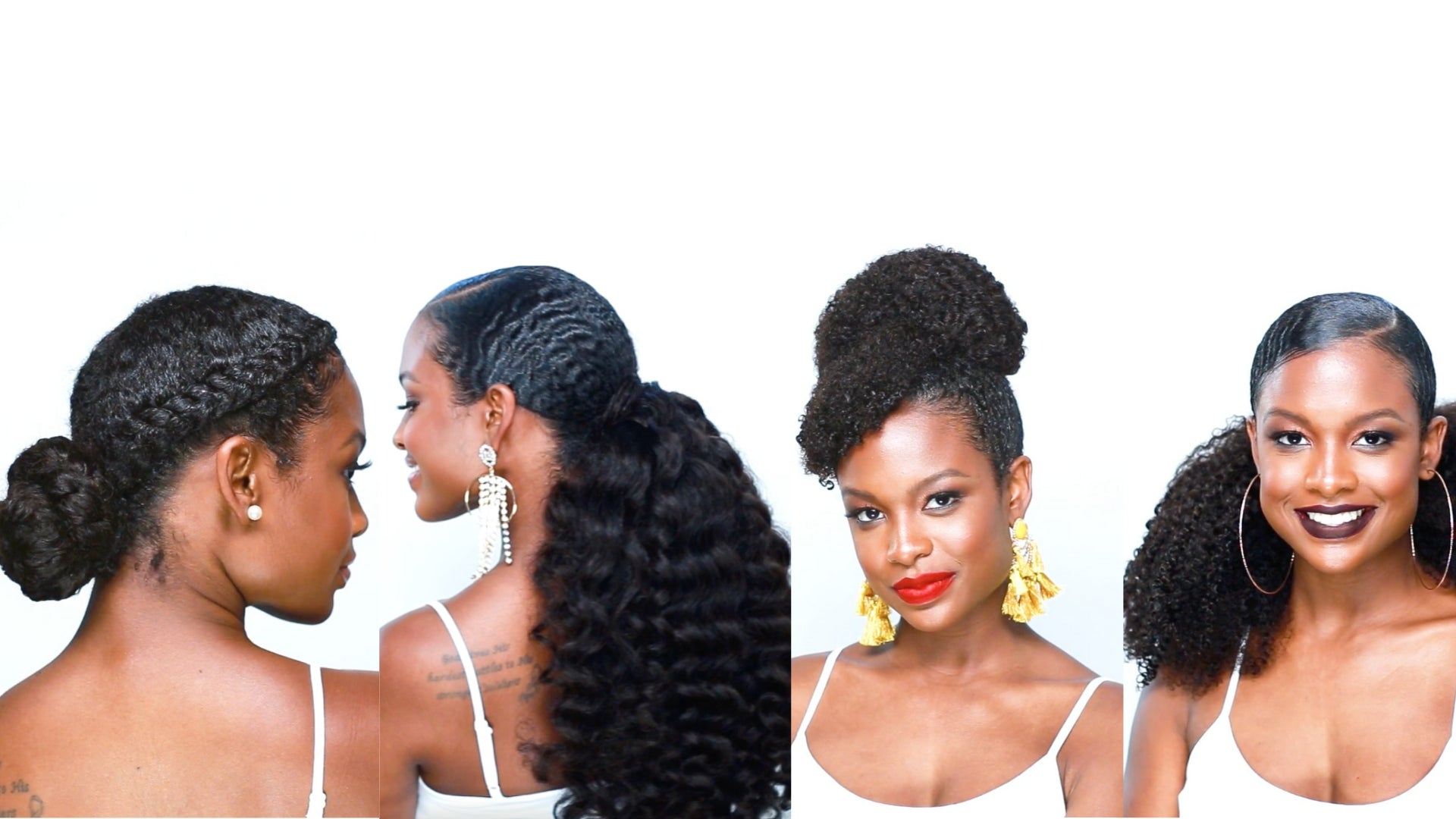 4 Drawstring Ponytail Styles For Natural Hair Heat Free Hair