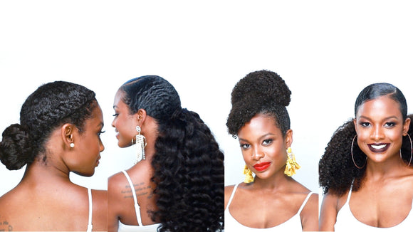 4 Drawstring Ponytail Styles for Natural Hair