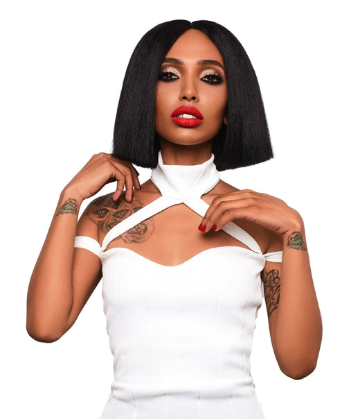 Lace Front Bob Wig With Center Part